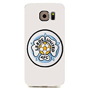 Famous Design FC Leeds United AFC Phone Case Cover For Samsung Galaxy S6edge 3D Plastic Phone Case