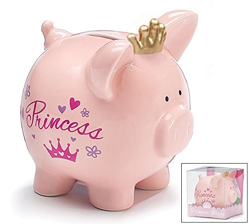 Bank Princess Piggy Tiara - Burton & Burton Pink Princess Savings Piggy Bank