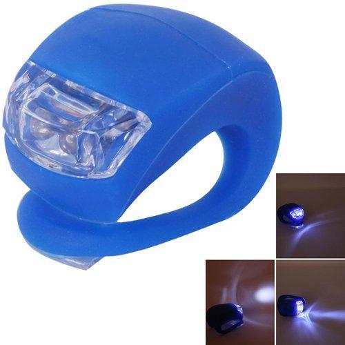 Surreywhytel Vélo étanche en silicone lumière lumière clignotante Tête de lampe Feu arrière lampe de poche