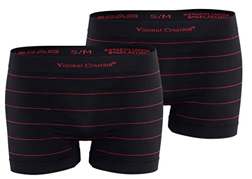 Avec Des 2 De Subtiles Microfibres Les Rayures Hommes Boxers Rouge rouge Noir Pour Lot YxX1Bqww