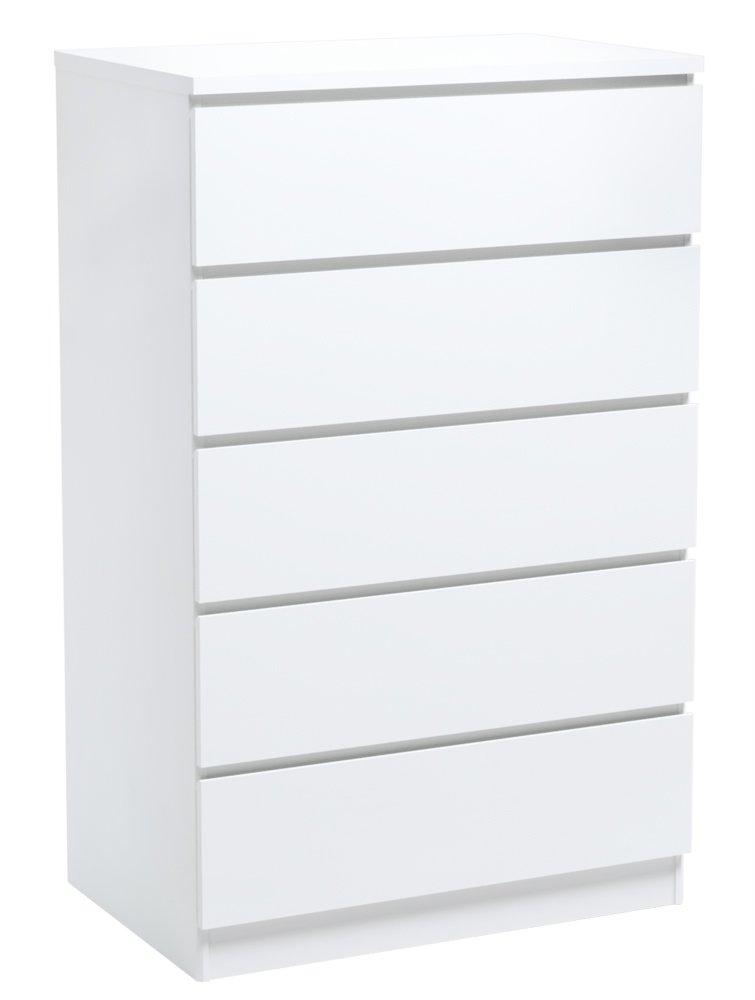 INFINIKIT Haven Chest with 5 Drawers - White Parisot 5407CO5T-ECR