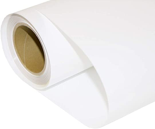 HOHO - Adhesivo de vinilo con efecto metálico para transferencia de calor, telas de camiseta, para máquina de cortar plotter 50cmx1000cm blanco: Amazon.es: Hogar