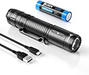WUBEN C3 Rechargeable Flashlight 1200 High Lumens Tactical Super Bright LED Flashlights 18650 Battery Included