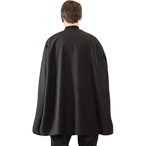 Black Superhero Cape (One Size Fits All) (Black Cape Halloween Costume)