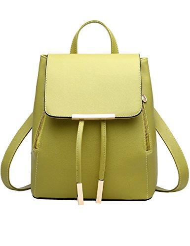 Menschwear Moda Mujer Chica funda mochila escolar bolsa Negro 2 Verde