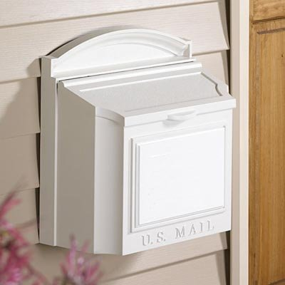 Design Mount Wall Mailbox (Whitehall Products 16139 Wall Mailbox, White)