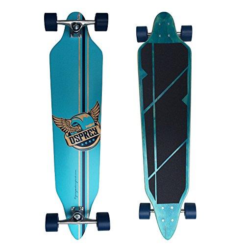 Osprey Longboards Pegasus, Limited Edition Komplettboard, Twin-Tip Drop-Through Freeride Skaten Cruiser Board