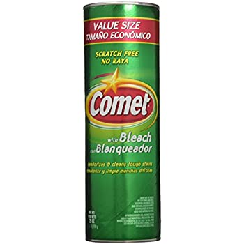Comet Cleanser with Bleach 25 Oz Can - 2 Pack