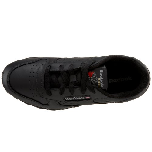 Reebok Little Kid/Big Kid Classic Leather Sneaker,Black,7 M US Big Kid Boys' Shoes