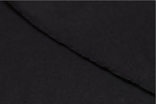 Donna Giovane Wasserfall Lungo Top V Elegante Moda Cardigan Cappotto Inverno Vintage Nero Outwear Manica Irregolare Lunga Scollo Giacca REBrRqH