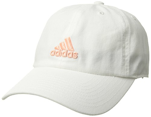 adidas Womens Saturday Cap, White/Haze Coral, One - Cap Stretch Lightweight