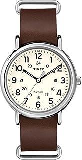088bb9e48a82 Timex T2N791 - Reloj análogico de cuarzo con correa de cuero para ...