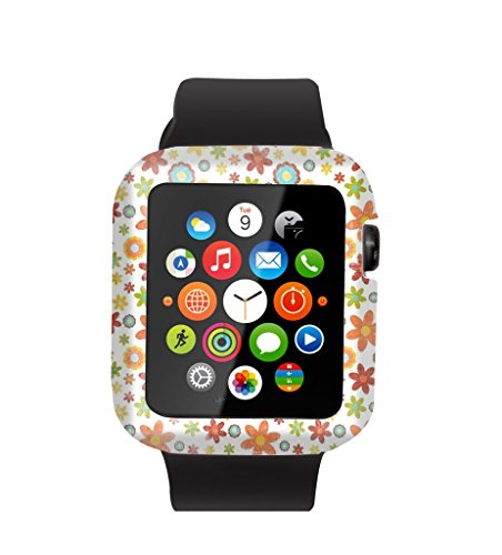 Case Replacement for Iwatch 38mm & Cisland Flexible Protective Protector Cover Compatible for Apple Watch 38mm Series 1/2/3 Sport & Edition Vintage Multiple Small Flowers Design
