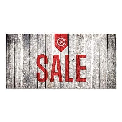 Nautical Wood Window Cling Sale 24x12 5-Pack CGSignLab