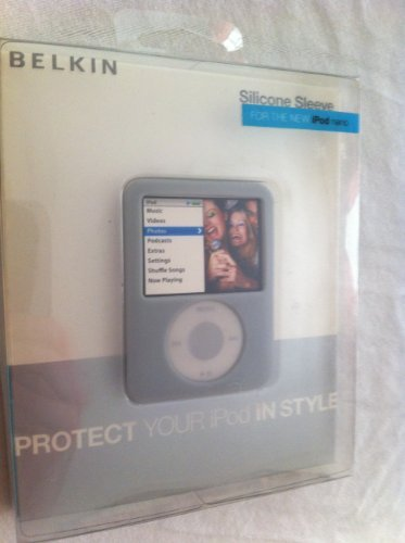 Sleeves Nano Silicone Ipod - Gray Grey Belkin iPod nano 3rd generation video 4GB 8GB Silicone Sleeve Case
