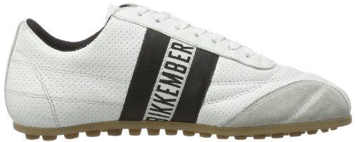Low and Bikkembergs Unisex Adult White 640979 Black White tnnw6FRq