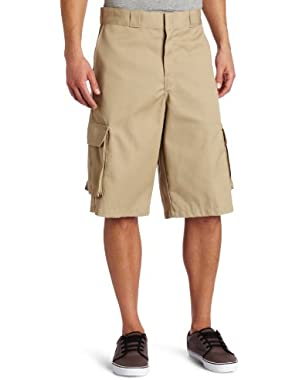 Men's Big 13 Inch Loose Fit Twill Cargo Short