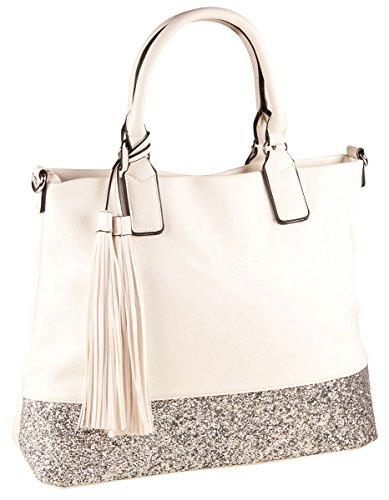 am billigsten elegantes und robustes Paket gesamte Sammlung LIBERTA Shopper Tasche LI1072 Damen Handtasche Glitzer Bag ...