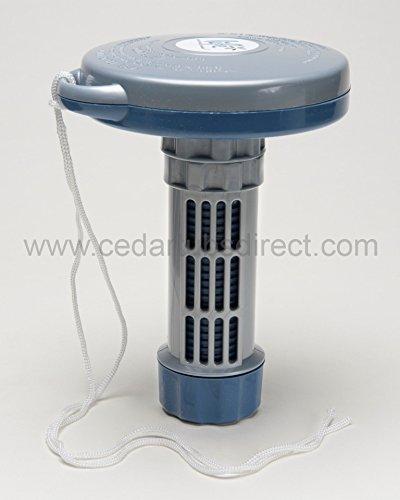 Floating Chlorine or Bromine Puck Dispenser for hot tub