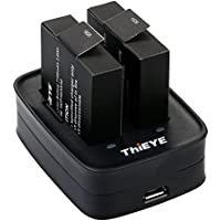ThiEYE Action Camera t5e Battery Charger USB Dual Charging Dock