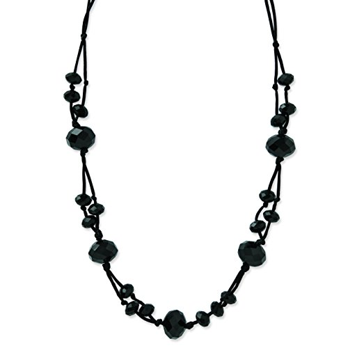 1928 Jewelry Black-Plated Black Acrylic Beads 16in w/ext Necklace from 1928 Jewelry