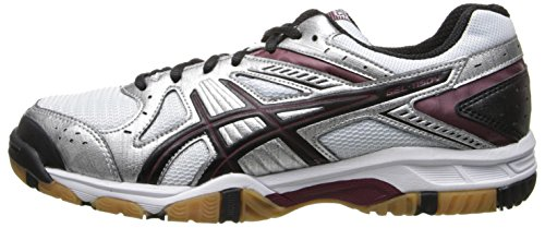 Pictures of ASICS Women's Gel 1150V Volley Ball Silver/Cardinal/Black 5