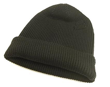970290af2a4 Buzz Rickson s watch cap BR02272 William Gibson Men s knit cap One size  Black