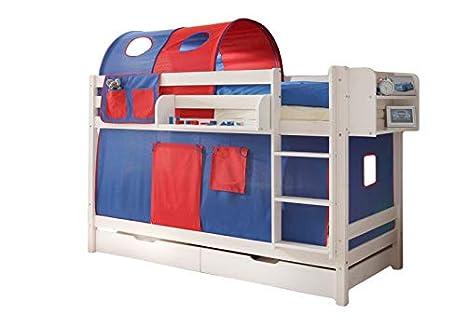 Tenda Tunnel Letto A Castello : Letto a castello jamie per tenda legno di pino massiccio bianco en