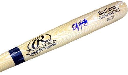 Martinez Autographed Baseball Bat (Edgar Martinez Signed Blonde Rawlings Bat Seattle Mariners - Autographed MLB Baseball Bats)