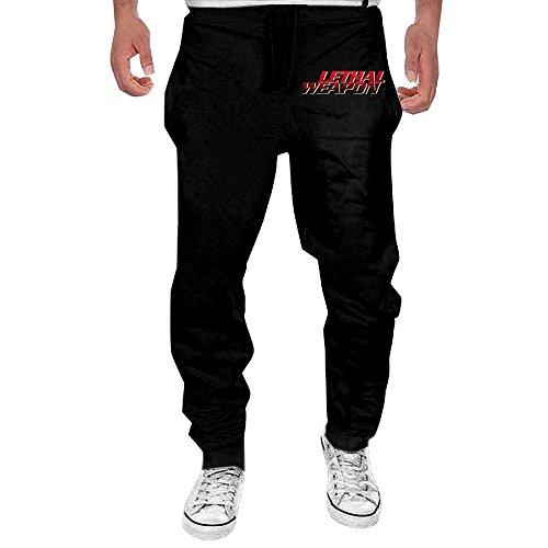 Blu Ribbed Jersey (Men's Lethal Weapon Comfortable Jersey Pant Black M)