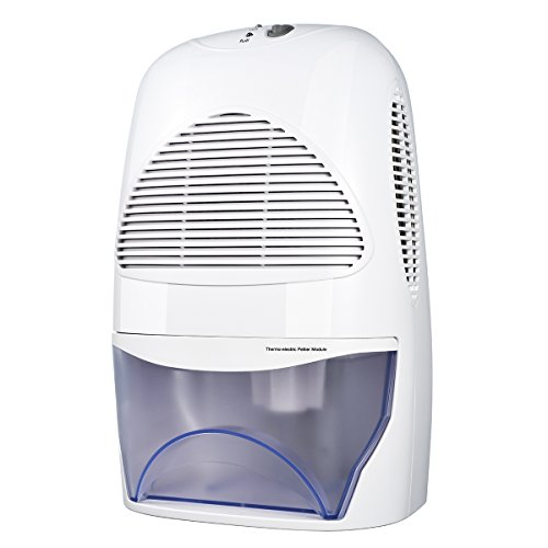 2.0L Luftentfeuchter, Homasy Tragbare Raumentfeuchter mit 2.0L Wassertank, Entfeuchtungsleistung = 600 ml / Tag für Haus, Büro, Schlafzimmer, Badezimmer, WC, Abstellraum, Küche