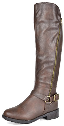 DREAM PAIRS Women's Sunrider Knee High Winter Military Combat Boots