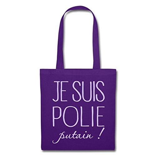Tote Je Violet Polie Spreadshirt Suis Bag Putain vSWHIwqT