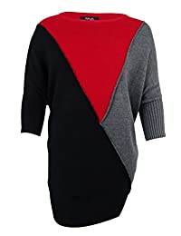 Style & Co. Womens Plus Colorblock Ribbed Trim Pullover Sweater