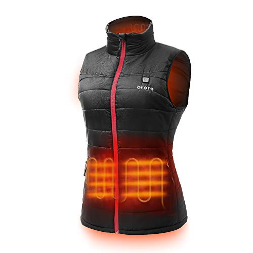 ORORO Women's Lightweight Heated Vest with Battery Pack(S)
