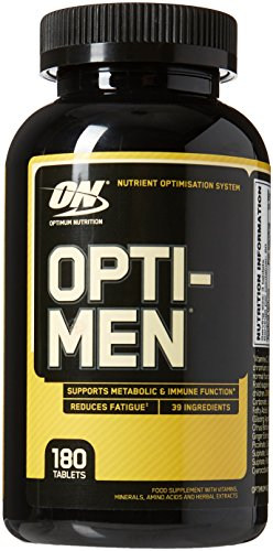 Optimum Nutrition Opti-Men 180 Capsules MultiVitamin Tablets with Vitamin...