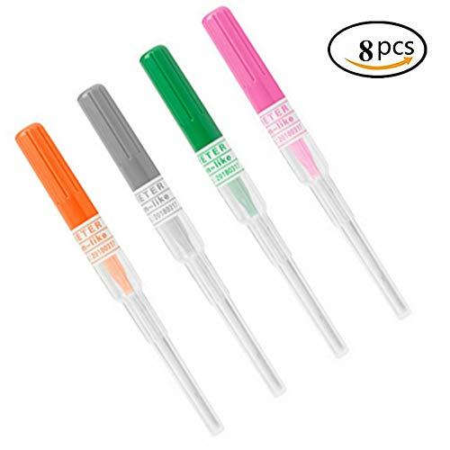 Piercing Needles - Tazay 8PCS Mixed 14G 16G 18G 20G Ear Nose Piercing Needles IV Catheter Needles for Piercing Sterilised Body Tattoo Piercings Tool for Piercing Supplies Piercing Kit (Mixed)