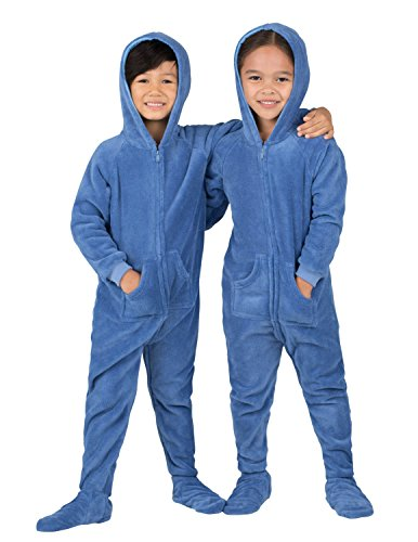 Footed Pajamas - Under The Sea Toddler Hoodie Chenille - Large