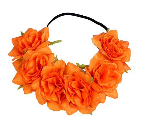 Floral Fall Rose Holiday Christmas Crown Festival Headbands Hippie Flower Headpiece F-53 -