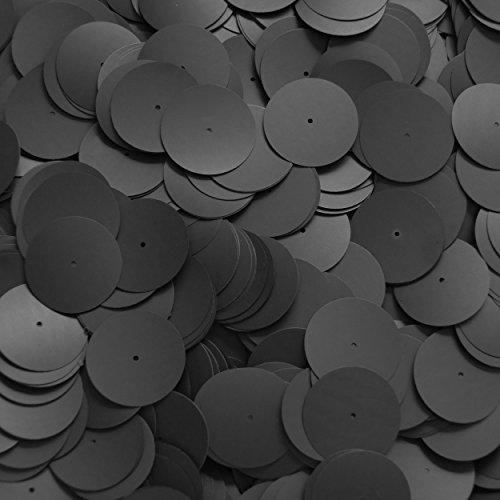 スパンコールブラックマットシルクFrostラウンド20mmセンター穴Couture Loose Paillettesの商品画像