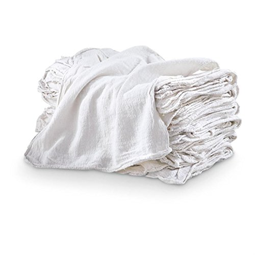 100% WHITE Cotton Shop Towels Industrial Shop Rags 14