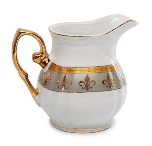 Royalty Porcelain 15pc Fleur-de-Lis Tea Set, Service for 6, 24K Gold-Plated Bone China Tableware by Royalty Porcelain (Image #4)