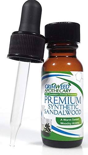 Grimweed Apothecary's -Sandalore - A Rich Premium Sandalwood Fragrance. 15ml - Great for Crafting, Hair and Skin Care, With Dropper.
