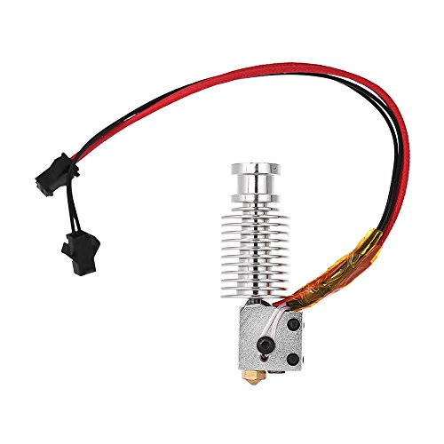 Aibecy DIY Volcano J-head Hotend Hot End Kit for 1.75mm Filament 0.4mm Nozzle & 12V 40W Heater & 100K NTC 3950 Thermistor & Heater Block for RapRep i3 3D Printer Replacement