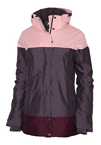 Columbia Women's Snowshoe Mountain Omni Heat Waterproof Hooded Ski Jacket (M, Dusty Purple)