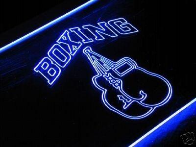 Boxing Caja Bombilla LED Cartel Cartel Cargar Reklame Neon ...