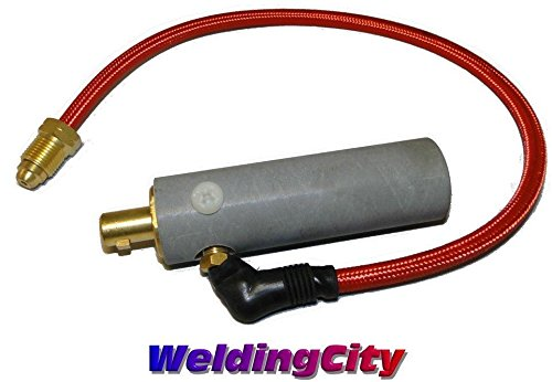 WeldingCity Miller Type Power Cable Adapter 195377 for Miller TIG Welding Welder Water-Cooled Torch 18 and 20