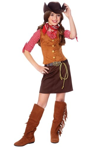 Kids Western Cowgirl Outfit Girls Halloween Costume L