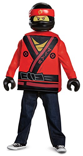 Disguise Kai Lego Ninjago Movie Classic Costume, Red, Large (10-12)