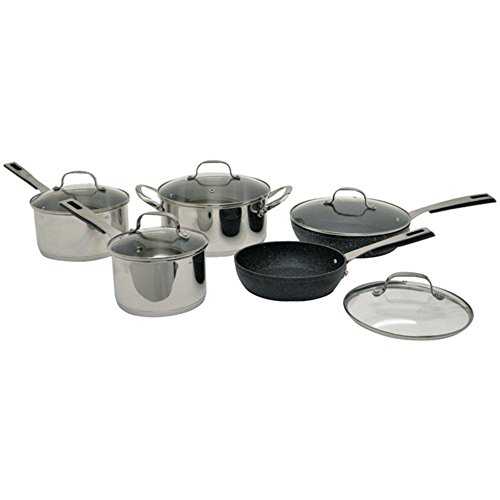 Starfrit 030942-001-0000 10 Piece Cookware Set, Stainless Steel